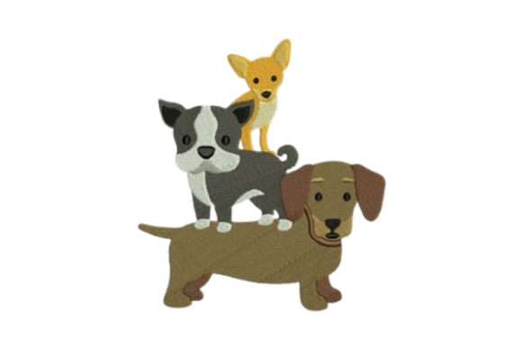 Dogs Puppies Dogs Embroidery Design By designsbymira - Image 1