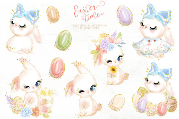 Easter Bunny Clipart Graphic Illustrations By Hippogifts - Image 2