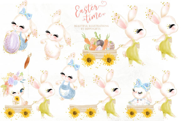 Download Free Easter Bunny Clipart Grafico Por Hippogifts Creative Fabrica SVG Cut Files
