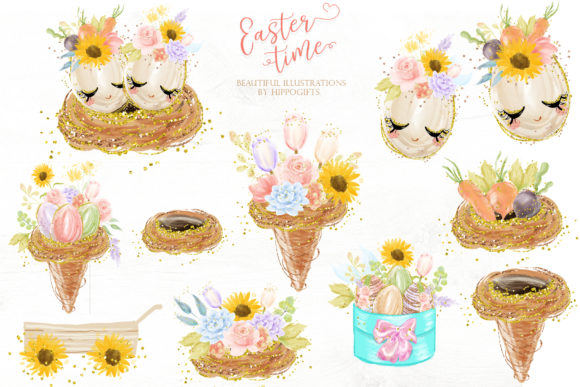Easter Bunny Clipart Graphic Illustrations By Hippogifts - Image 4
