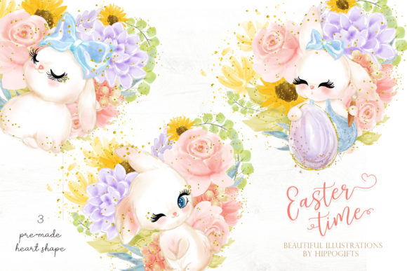 Easter Bunny Clipart Graphic Illustrations By Hippogifts - Image 8