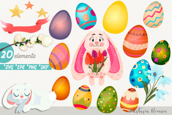 Download Free Easter Egg Hunt With Cute Bunny Vector Graphic By Anes Art for Cricut Explore, Silhouette and other cutting machines.