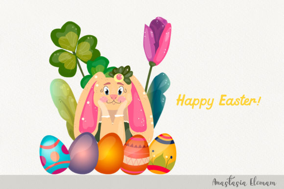 Download Free Easter Eggs Hunt Clipart Vector Graphic By Anes Art Creative for Cricut Explore, Silhouette and other cutting machines.