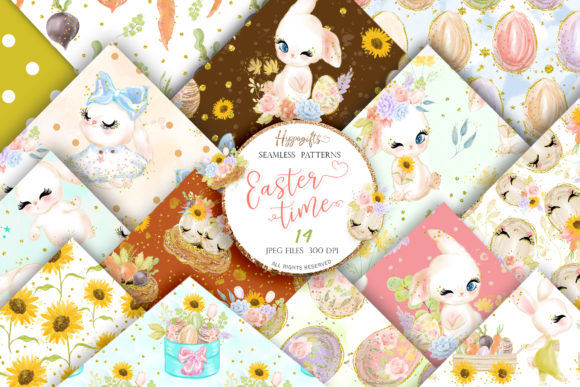 Easter Seamless Patterns Graphic Patterns By Hippogifts - Image 2