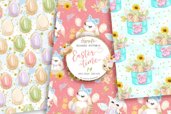 Easter Seamless Patterns Graphic Patterns By Hippogifts - Image 3