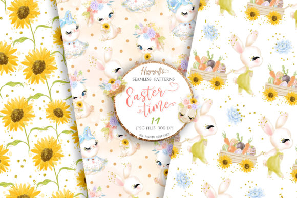 Easter Seamless Patterns Graphic Patterns By Hippogifts - Image 4