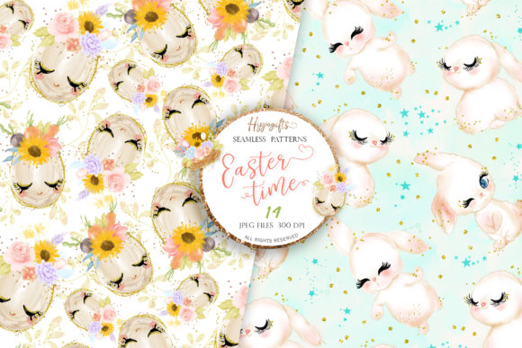 Easter Seamless Patterns Graphic Patterns By Hippogifts - Image 5