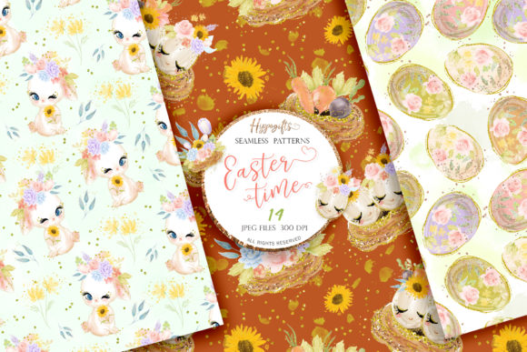 Easter Seamless Patterns Graphic Patterns By Hippogifts - Image 6