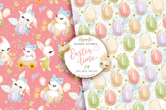 Easter Seamless Patterns Graphic Patterns By Hippogifts - Image 8