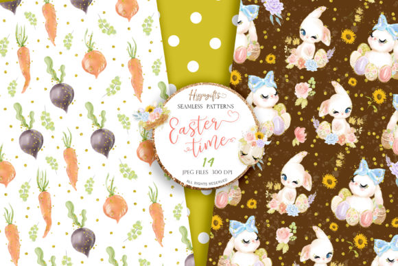 Easter Seamless Patterns Graphic Patterns By Hippogifts - Image 9