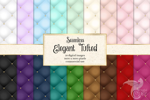 Elegant Tufted Digital Paper Graphic Patterns By Digital Curio