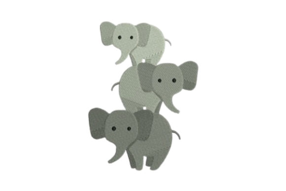 Elephant Baby Animals Embroidery Design By designsbymira - Image 1