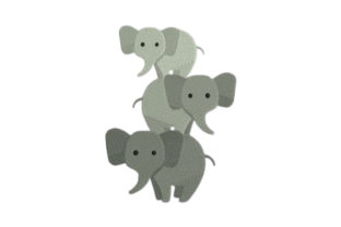 Elephant Baby Animals Embroidery Design By designsbymira