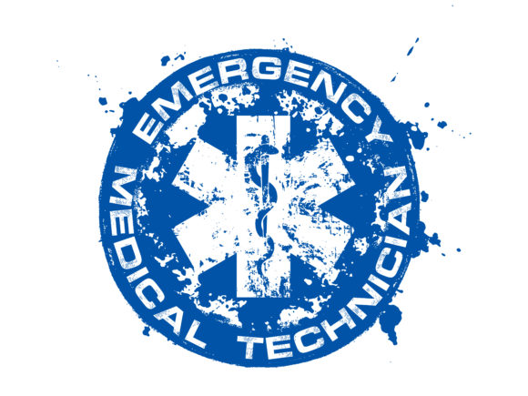 Emergency Medical Technician EMS Star Graphic Illustrations By davgogoladze