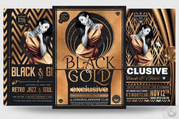 Exclusive Party Flyer Bundle V2 Graphic Print Templates By ThatsDesignStore