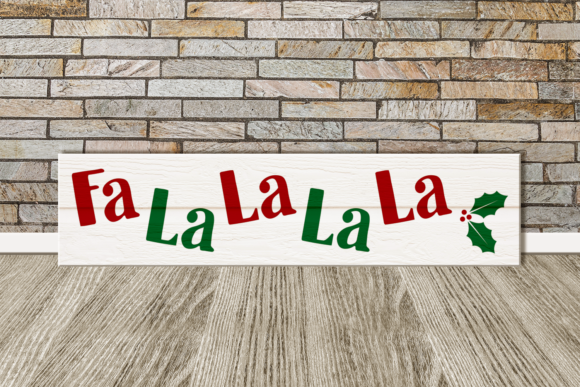 FaLaLa Christmas Porch Sign Graphic Crafts By RisaRocksIt