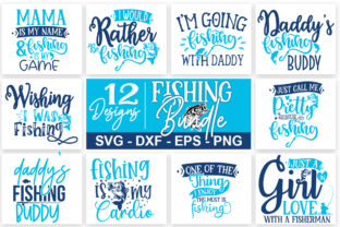 Print on Demand: Fishing Bundle Part 01 Graphic Print Templates By Designdealy.com