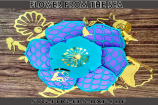 Flower from Under the Sea Template Graphic 3D Flowers By Mar De Andalucía