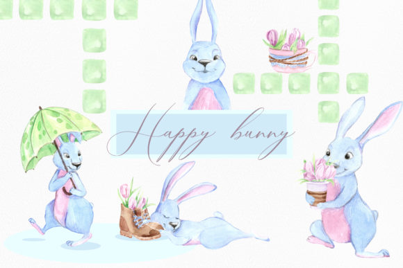 Print on Demand: Funny Rabbit Graphic Illustrations By laffresco04