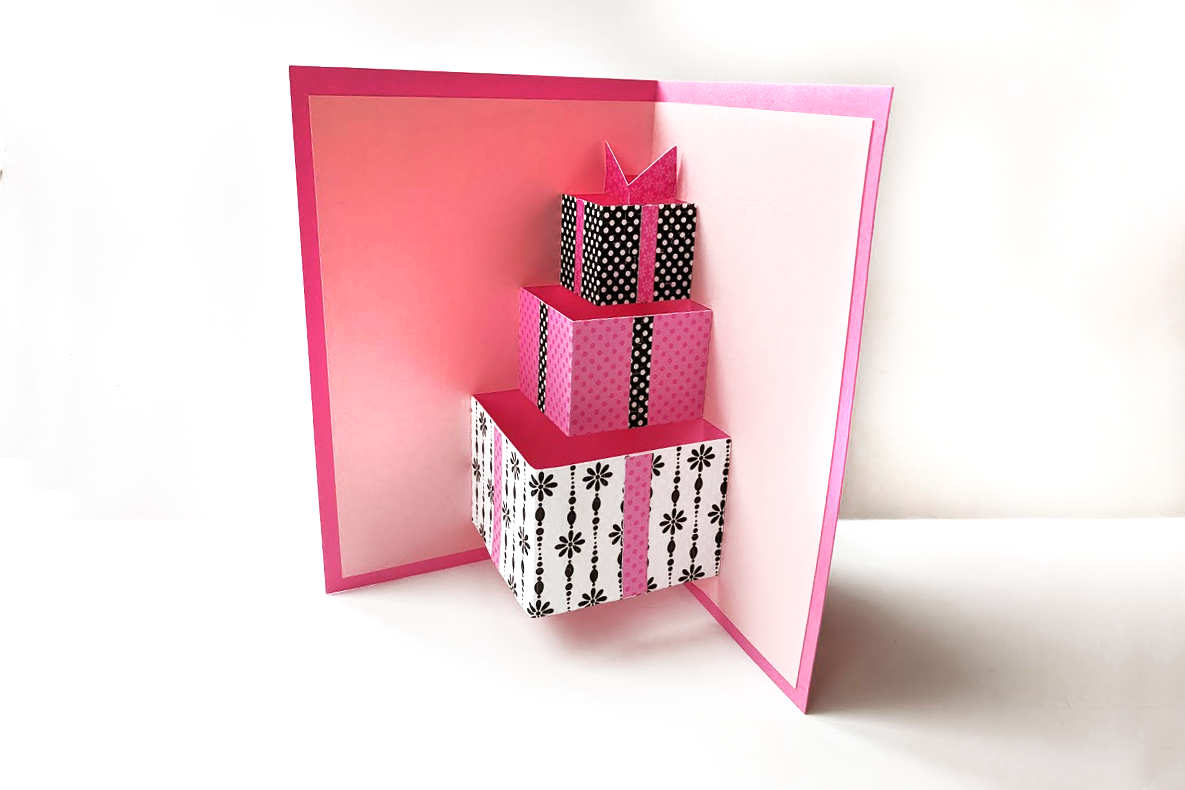 Download Free Gift Box Pop Up Card Grafico Por Risarocksit Creative Fabrica for Cricut Explore, Silhouette and other cutting machines.