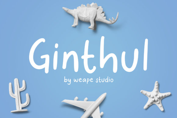 Print on Demand: Ginthul Script & Handwritten Font By Weape Design