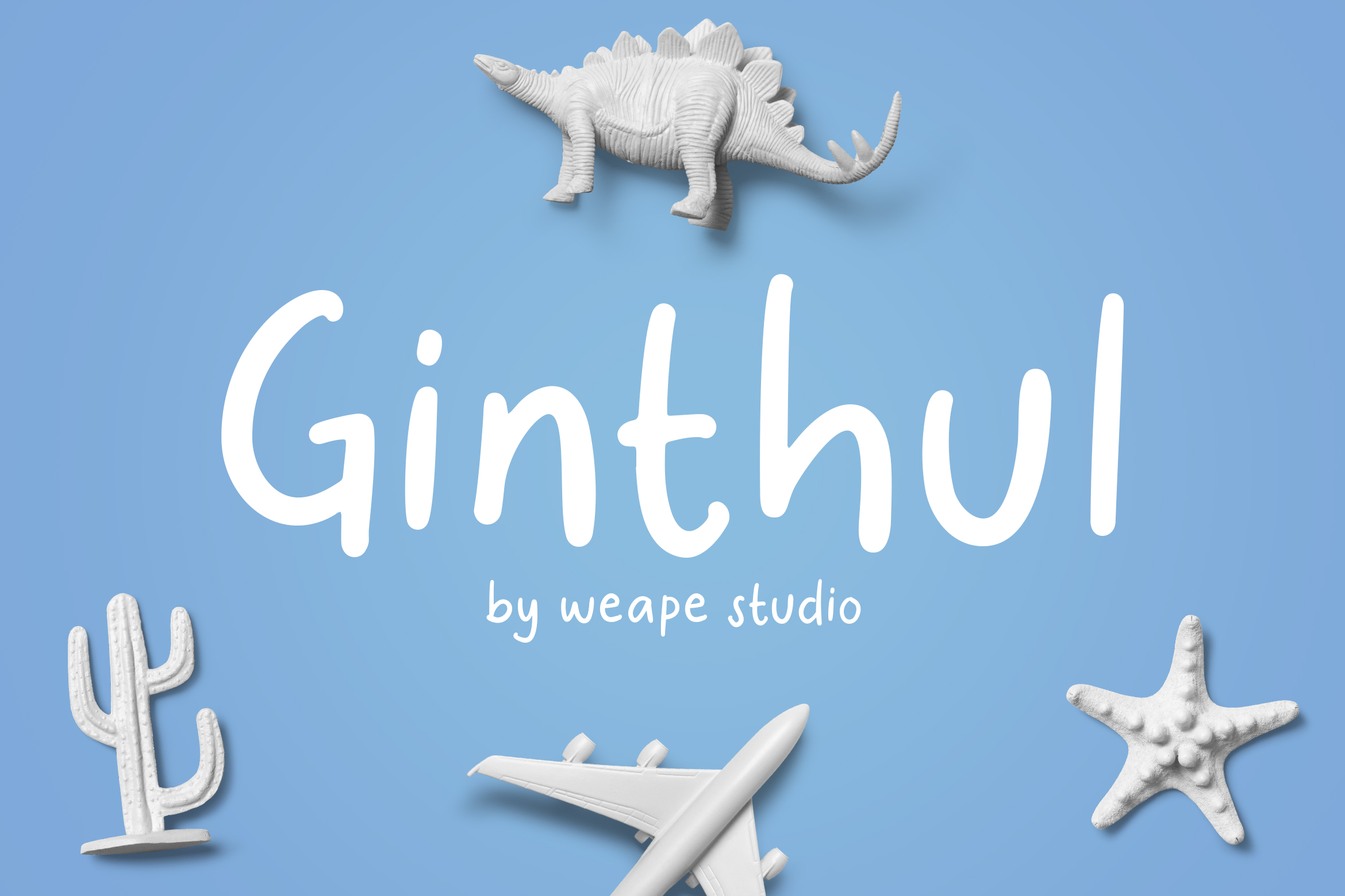 Ginthul Font By Weape Design Creative Fabrica