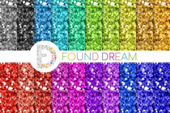 Glitter Digital Papers Graphic Patterns By FounDream