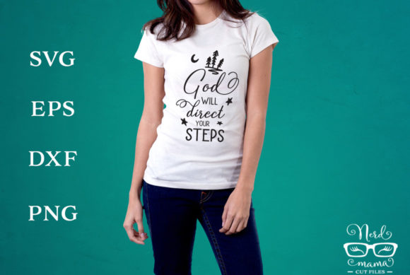 Print on Demand: God Will Direct Your Steps Version II Graphic Crafts By Nerd Mama Cut Files