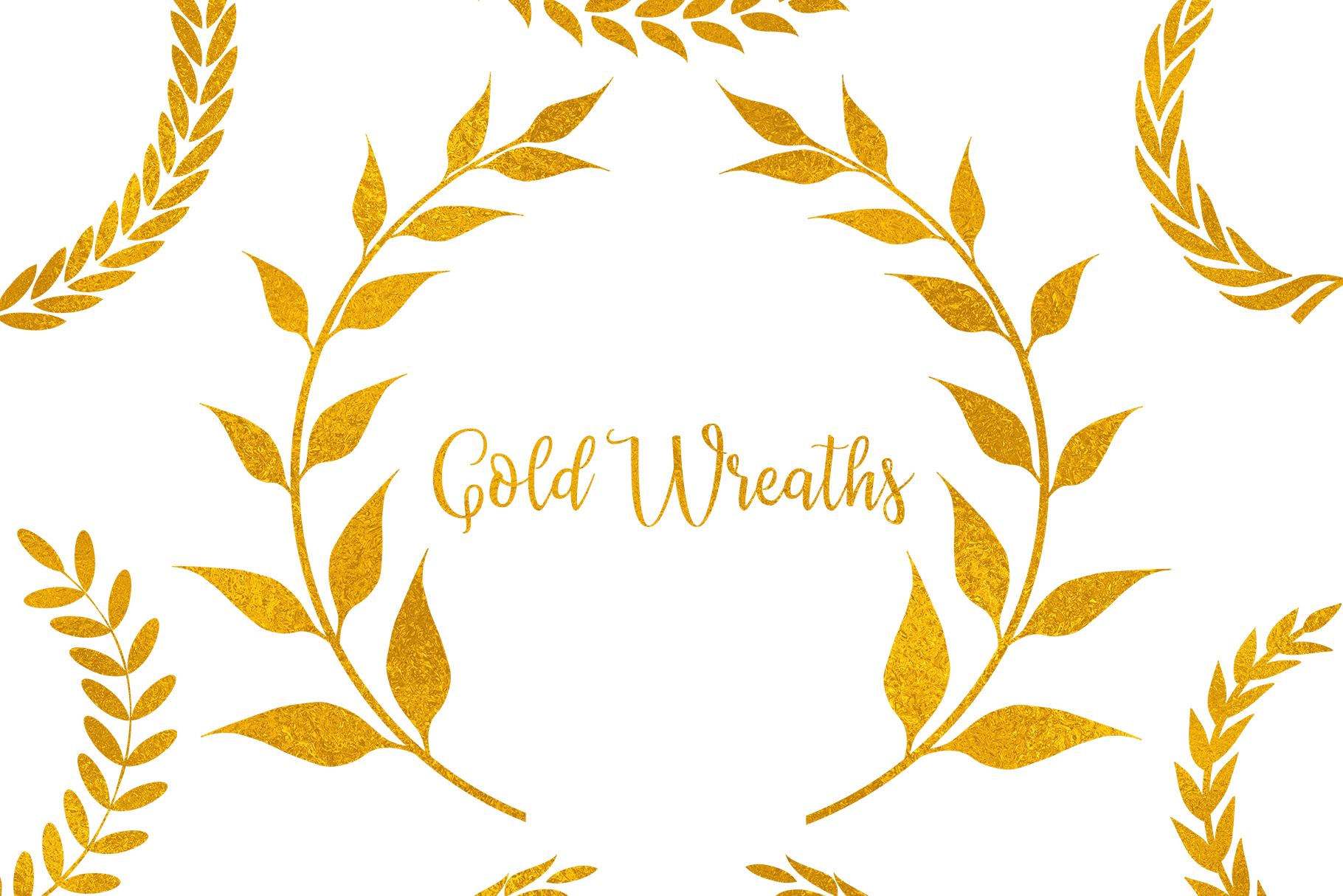 Download Free Gold Wreaths Clipart Gold Frame Clipart Graphic By Bonadesigns Creative Fabrica for Cricut Explore, Silhouette and other cutting machines.