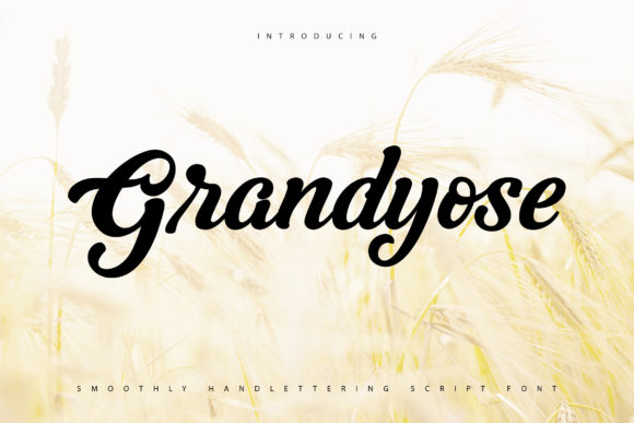 Print on Demand: Grandiose Script & Handwritten Font By Vunira