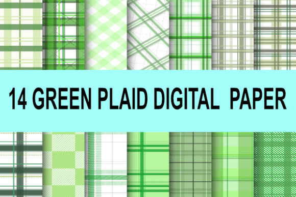 Print on Demand: Green Plaid Buffalo Tartan St. Patrick Graphic Patterns By rodesigns