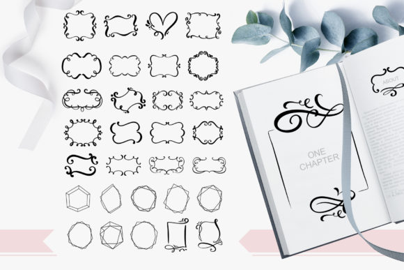 Hand Drawn Vintage Frames Graphic Objects By Happy Letters - Image 3
