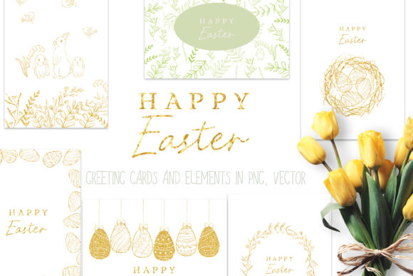 Print on Demand: Happy Easter Graphic Set Graphic Illustrations By Primafox Design