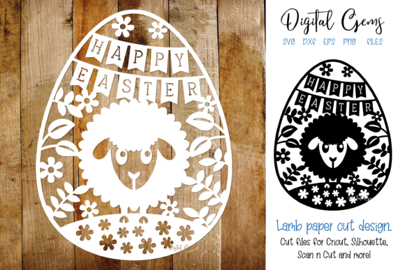 Happy Easter Paper Cut Design Graphic Crafts By Digital Gems
