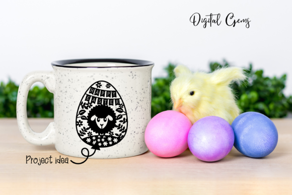 Happy Easter Paper Cut Design Graphic By Digital Gems Creative