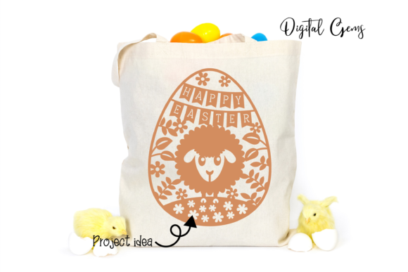 Download Free Happy Easter Paper Cut Design Graphic By Digital Gems Creative for Cricut Explore, Silhouette and other cutting machines.
