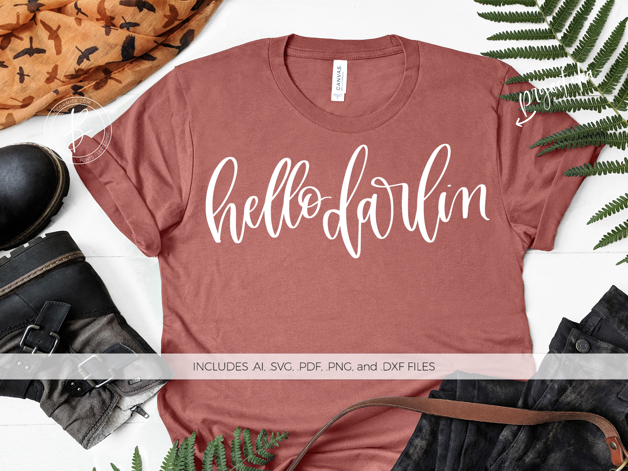 Download Free Hello Darlin Graphic By Beckmccormick Creative Fabrica for Cricut Explore, Silhouette and other cutting machines.