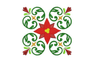 Holiday Quilt Block Christmas Embroidery Design By designsbymira