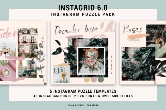 Download Free Instagrid 2 0 Instagram Puzzle Graphic By Silverstag for Cricut Explore, Silhouette and other cutting machines.
