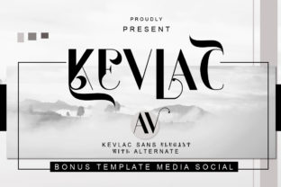 Print on Demand: Kevlac Sans Serif Font By jehansyah251