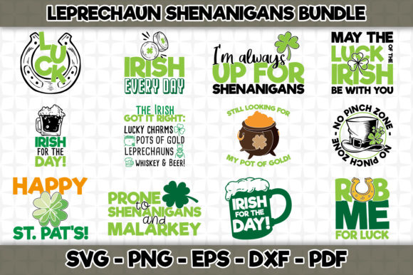 Download Free Leprechaun Shenanigans Bundle Graphic By Svgexpress Creative for Cricut Explore, Silhouette and other cutting machines.