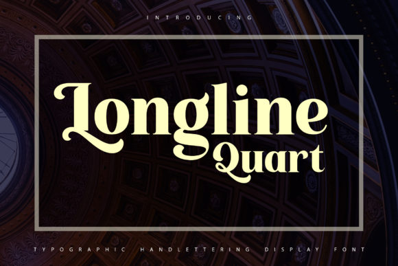 Print on Demand: Longline Quartz Display Font By Vunira
