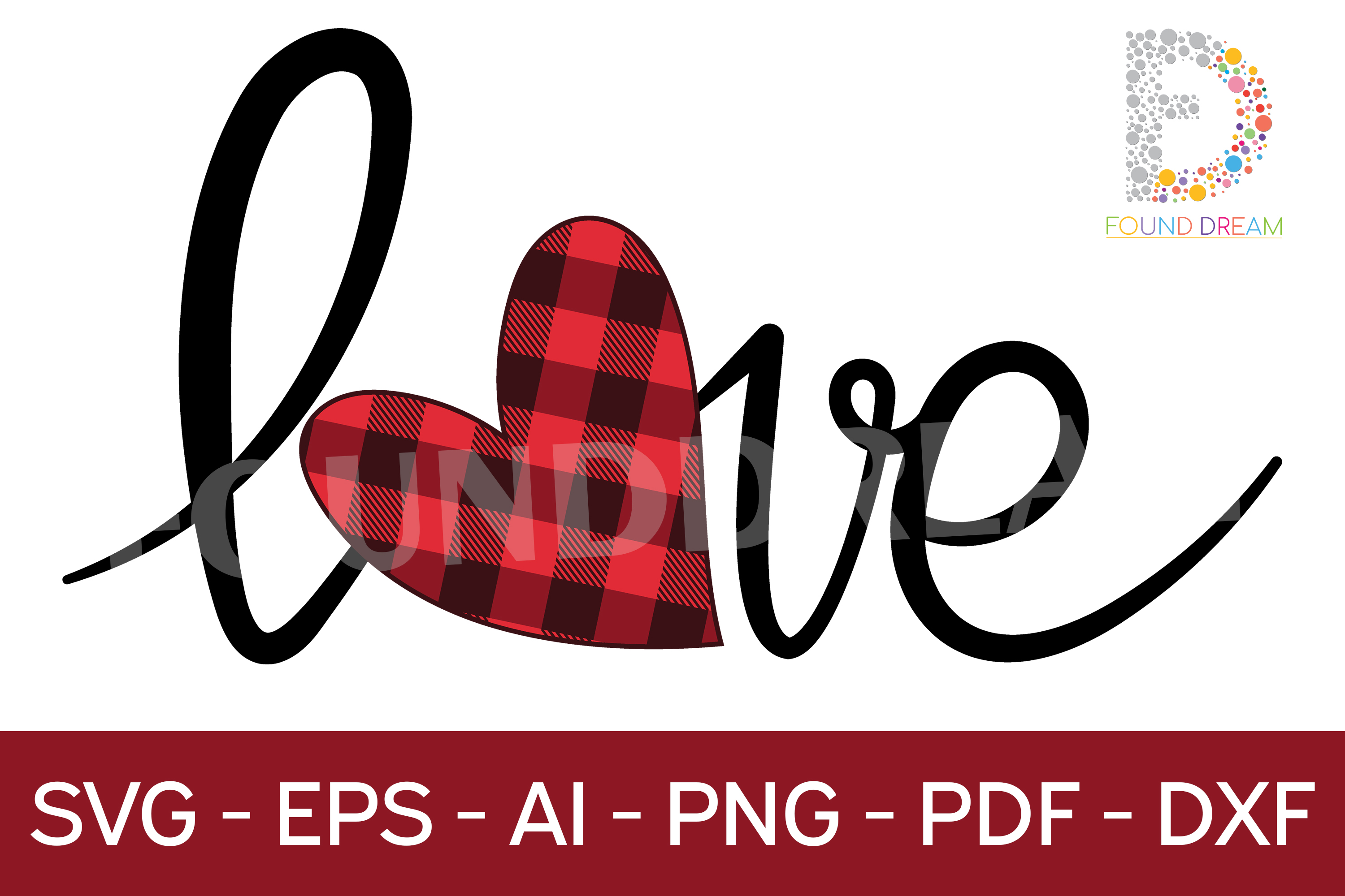 Download Free Love Graphic By Foundream Creative Fabrica for Cricut Explore, Silhouette and other cutting machines.