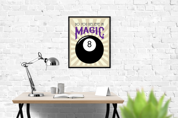 Magic 8 Ball Do You Believe in Magic Graphic Crafts By RisaRocksIt