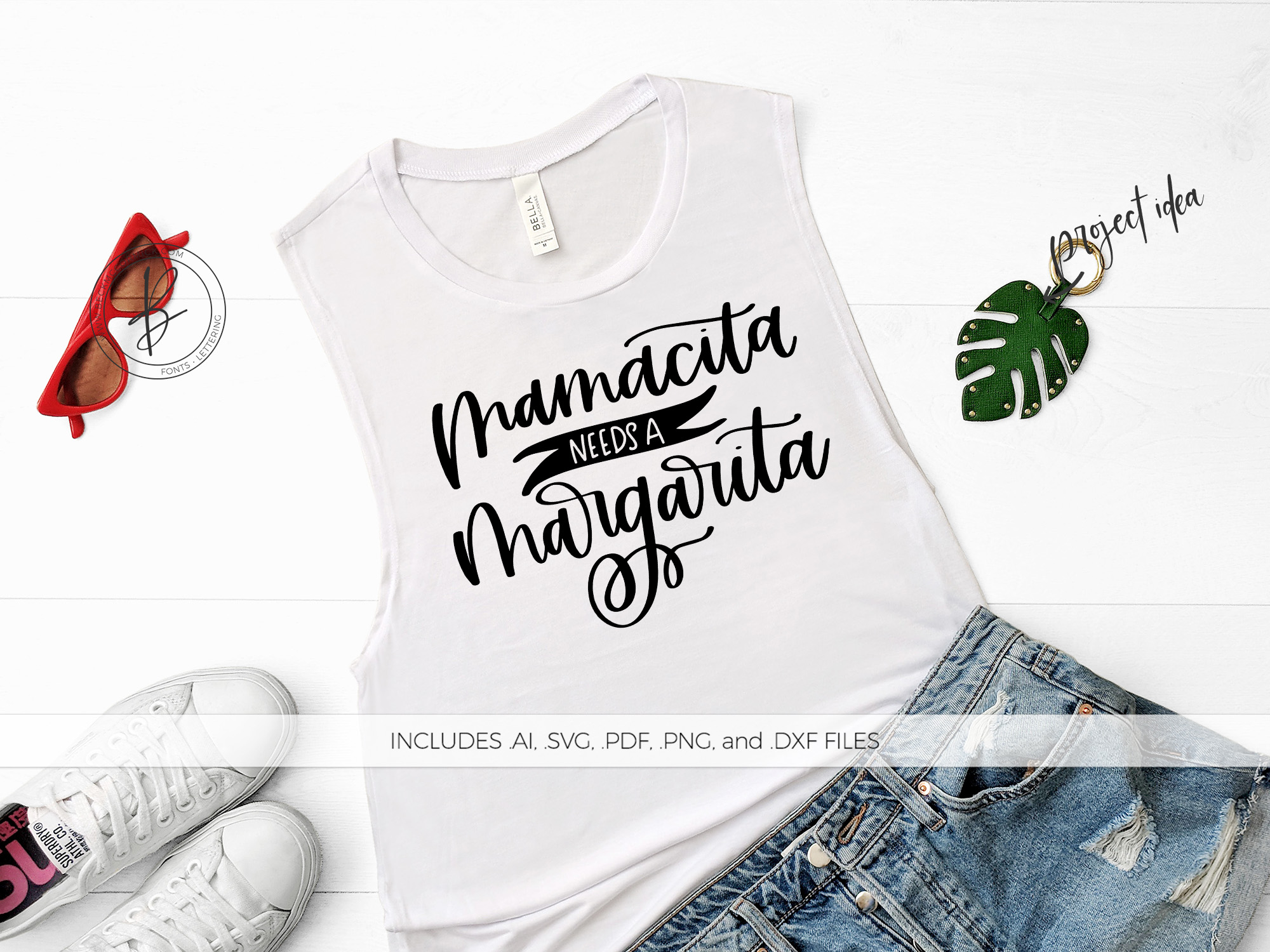 Download Free Mamacita Needs A Margarita Graphic By Beckmccormick Creative for Cricut Explore, Silhouette and other cutting machines.