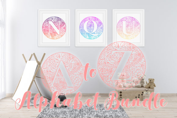 Print on Demand: Mandala Monogram Alphabet a to Z Graphic Crafts By Sintegra