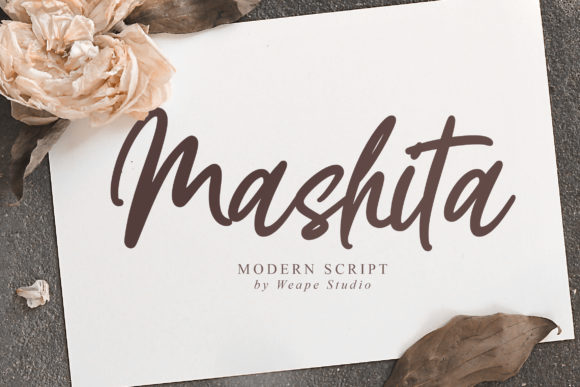 Print on Demand: Mashita Script & Handwritten Font By Weape Design