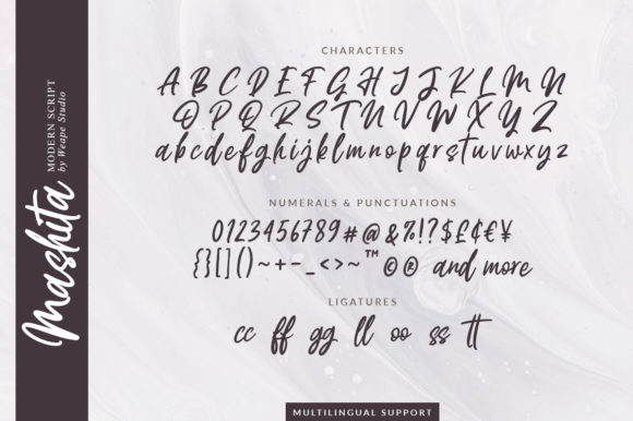 Print on Demand: Mashita Script & Handwritten Font By Weape Design - Image 12