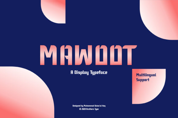 Print on Demand: Mawoot Display Fuente Por Brothers Graphic