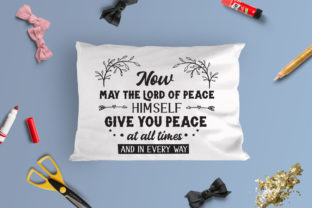May the Lord Bring You Peace Cut File Gráfico Crafts Por Nerd Mama Cut Files